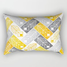 Bright Geometric Print Rectangular Pillow