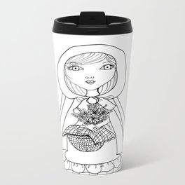 Little Red Riding Hood Visits Grandma Metal Travel Mug
