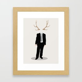 Nature and Society Framed Art Print