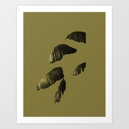 deconstructed palm Art Print