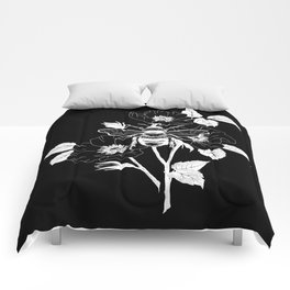 Save the bees black Comforters