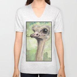 Ostrich 'Stache Unisex V-Neck