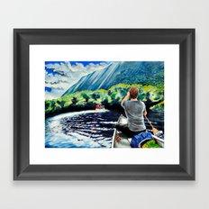 Chris+Canoe+Pilly=YES Framed Art Print
