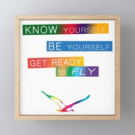 Get ready to fly Framed Mini Art Print