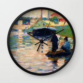 View of the Seine - Digital Remastered Edition Wall Clock