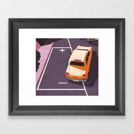 Battery parking Framed Art Print