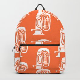 Tuba Pattern Orange Backpack