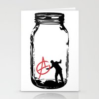 anarchy Stationery Cards featuring Anarchy  by jamieskinner