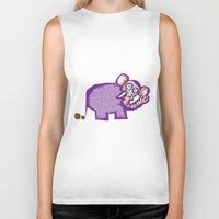 poop Biker Tanks featuring Elephant poop by Jamie Clayton