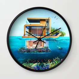 Positive tropical motivation: Live free #16 Wall Clock