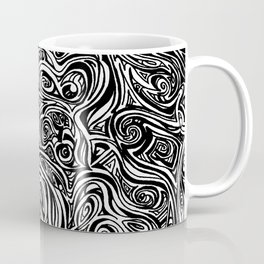 Black swirl design Coffee Mug