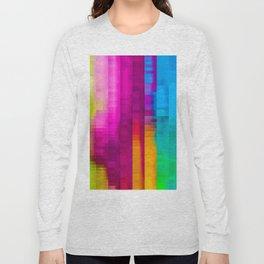 Vertical Rainbow Color Palette Long Sleeve T-shirt