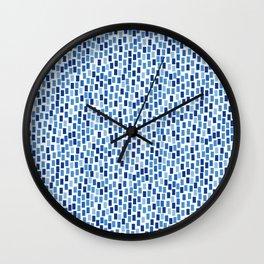 MOSAICS: BLUE GREECE Wall Clock