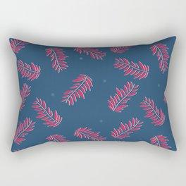 pattern-leaf-blue Rectangular Pillow