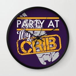 party at my crib Wall Clock