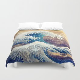 The Great Wave off Kanagawa Duvet Cover