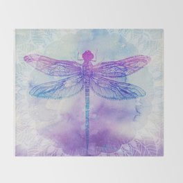 Mandala Dragonfly Throw Blanket