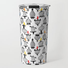 Birds and Crazy Cages Travel Mug