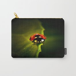 Ladybird on a leaf in English Spring time Carry-All Pouch