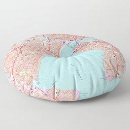 Vintage Map of Jacksonville Florida (1964) Floor Pillow