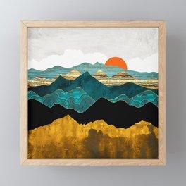 Turquoise Vista Framed Mini Art Print