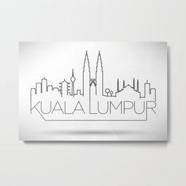 Minimal Kuala Lumpur Skyline Design Metal Print