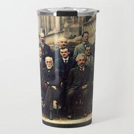 Solvay Conference 1927 Einstein Scientists Group Travel Mug