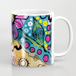 """Tie-Dye Wonderland"" Coffee Mug"