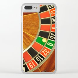 roulette wheel detail Clear iPhone Case