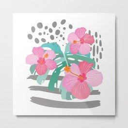 Light Hibiscus Metal Print