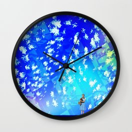 """""""Pastiche Takes Flight In Oz""""  by surrealpete Wall Clock"""