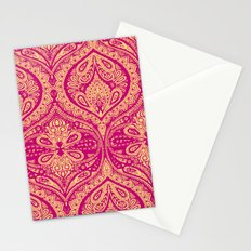 Simple Ogee Pink Stationery Cards