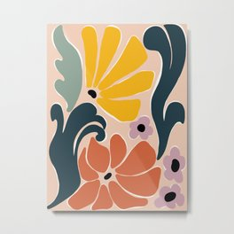 retro abstract flow garden  Metal Print