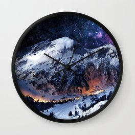 Mountain CALM IN space view Wall Clock
