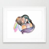korrasami Framed Art Prints featuring KorrAsami by René (The-Z) Barr