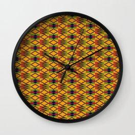 African kente pattern 6 Wall Clock