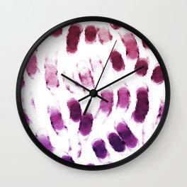 Purple Watercolor Brush Strokes Wall Clock