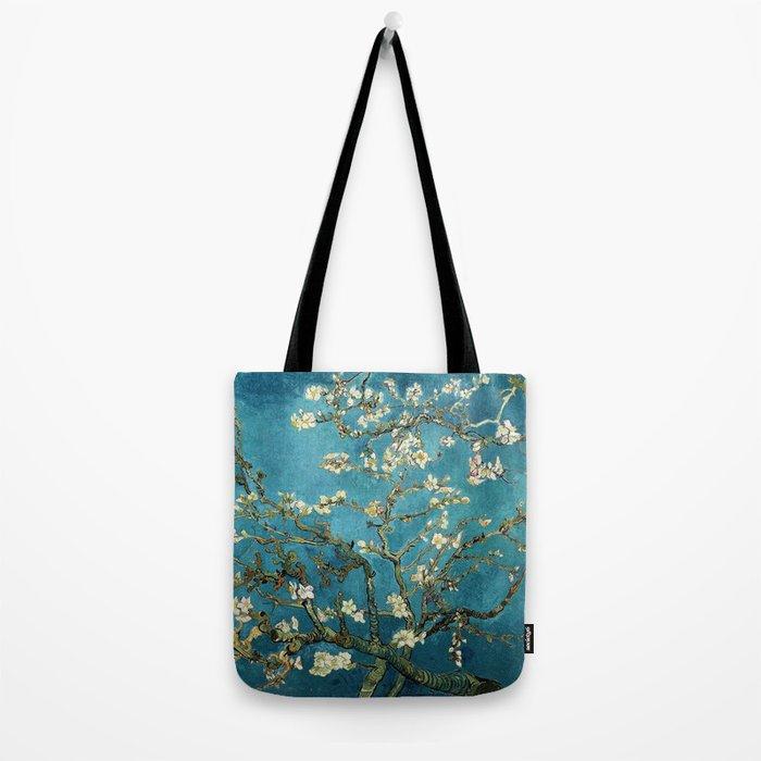 Blossoming Almond Trees, Vincent van Gogh. Famous vintage fine art. Tote Bag