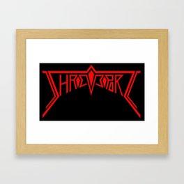 Shreveport - red Framed Art Print