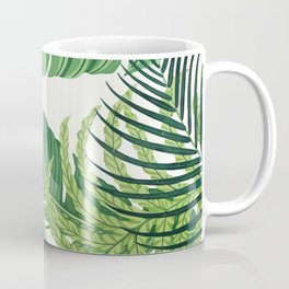 Green tropical leaves II Coffee Mug