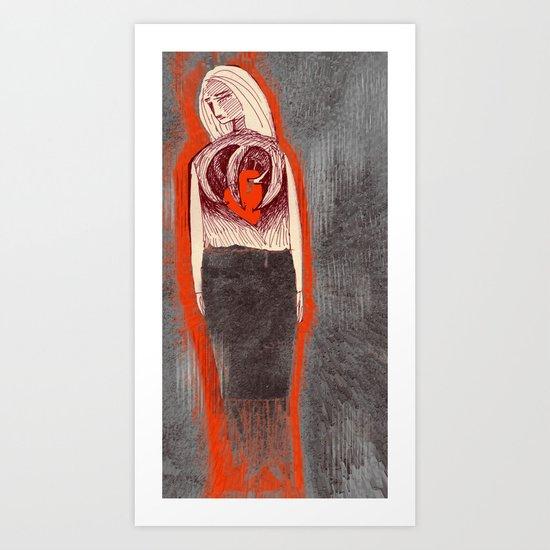 hidden feeling Art Print