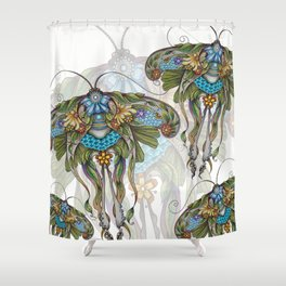 Botanical Butterfly No. 1 Shower Curtain