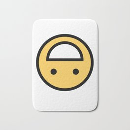 Smiley Face   Upside Down Happy Laughing Smileys Bath Mat