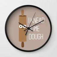 bread Wall Clocks featuring Short Bread by David Olenick