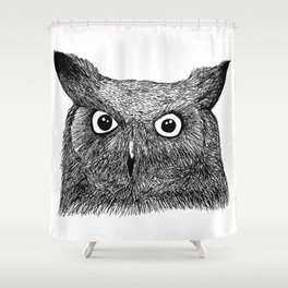 The Eyes of Wisdom Shower Curtain