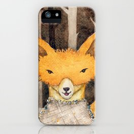Fox in the woods iPhone Case