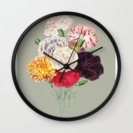 Colorful Flower Bouquet Wall Clock