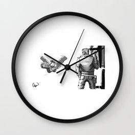 Space Bounty Hunter no background Wall Clock