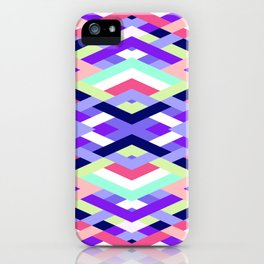 Smart Diagonals Coral iPhone Case