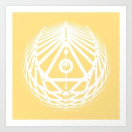 Radiant Abundance (light yellow-white) Art Print